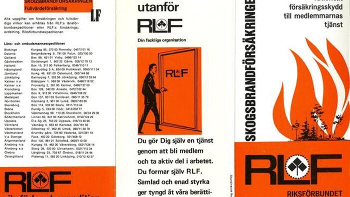 Broschyr för RLFs skogsbrandsförsäkring (1968)