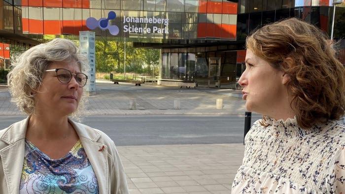 Ulrika Åkesson, Agroväst Gröna Möten och Hanna Paradis, Science Park Johanneberg