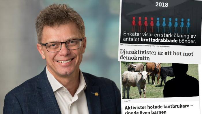 Ola Johansson (c) vill se hårdare tag kring djurrättsaktivism.
