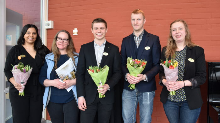 Susan Larsson, Sissi Fredberger, ansvarig för LRF Ungdomen inom LRF Västra Sverige, Niklas Svensson, ? och Catrin Gustavsson