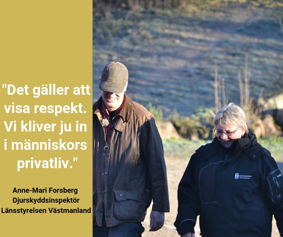 Anne-Marie Forsberg - god myndighetsutövning. Bild till Facebook
