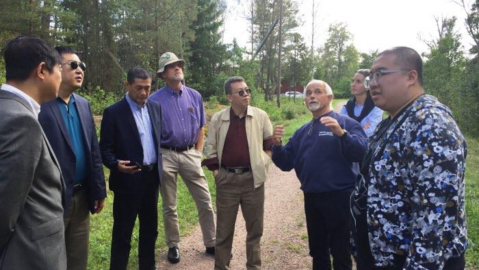 Skogsbesök hos LRF och Mellanskogsmedlemmen Hans Tibell i Roslagen