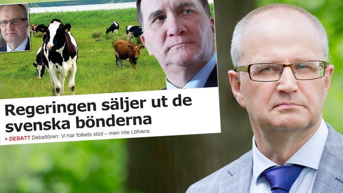 Palle Borgström konstaterar att bönderna har folkets stöd men inte statsministerns