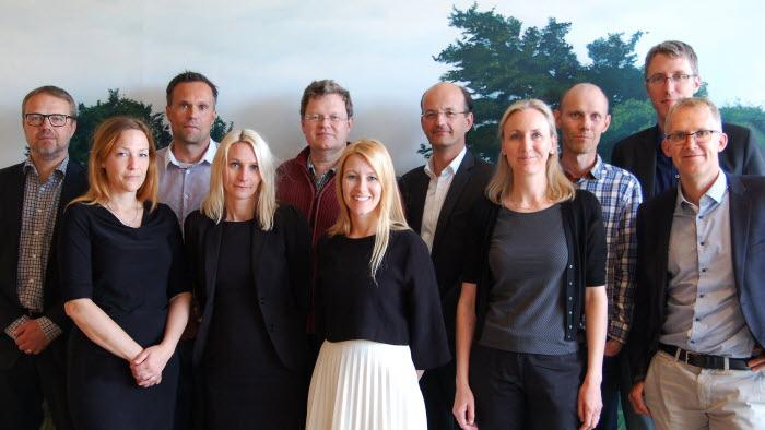 Ägande- och brukanderättsgruppen, från vänster till höger: Thomas Bertilsson, Helena Andreason, Ulf Ståhl, Johanna Fintling, Ulf Wickström, Ida Nyberg, Carl von der Esch, Åsa Hill, Björn Galant, Erik Evestam, Gunnar Lindén