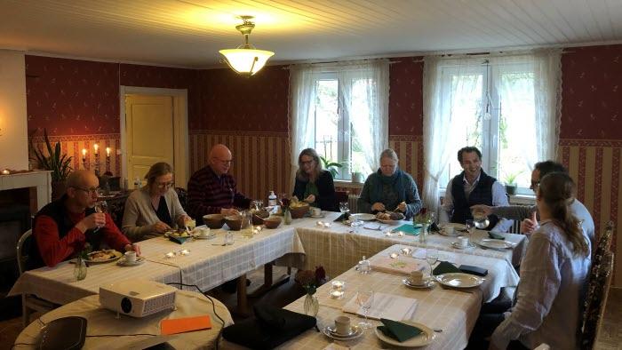 Möte med Halmstads kommungrupp och lokalavdelningsordförnden