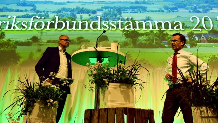 Palle Borgström och Ulf Kristersson på LRFs Riksförbundsstämma 2018