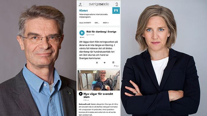 Jan Eksvärd pratade slam och fosfor med miljöminister Karolina Skog i P1 Klotet
