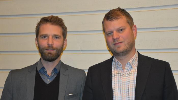 Markus Svensson, hållbarhetschef och Martin Clarstedt, miljö- och byggchef på Rättviks kommun