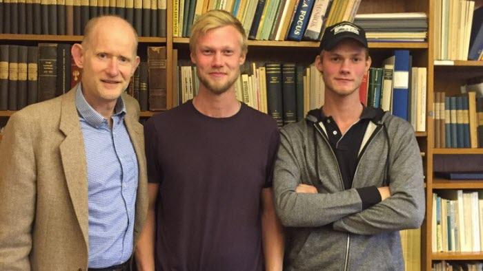 Claes Åkerberg, Oscar och Emil Ivansson på LRF Mjölks byggträff