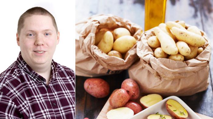 Daniel Strandlund med matbild