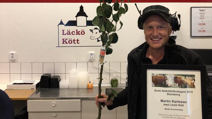 Martin Karlsson Årets Nötköttsföretagare Skaraborg