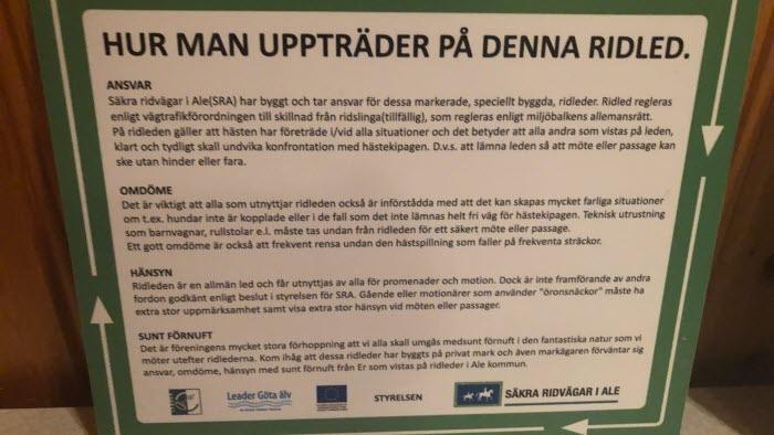 Möte Säkra ridvägar Göteborg