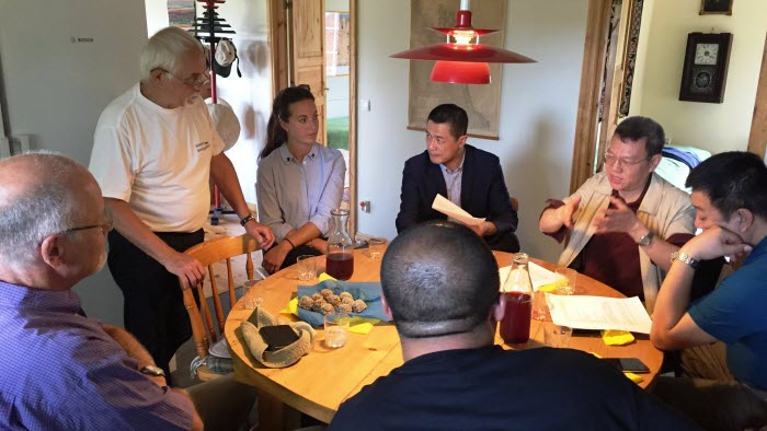 Besök på Hans Tibell av kinesisk skogsdelegation