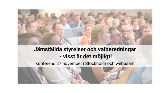 Om jämställdhetskonferensen 27 november 2019
