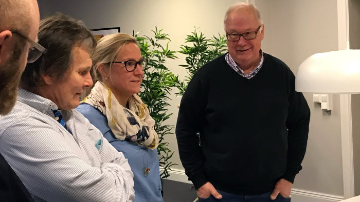 Fyra pratar bland annat Olle Göransson LRF Hagfors kommungrupp Dialogdag Hagfors