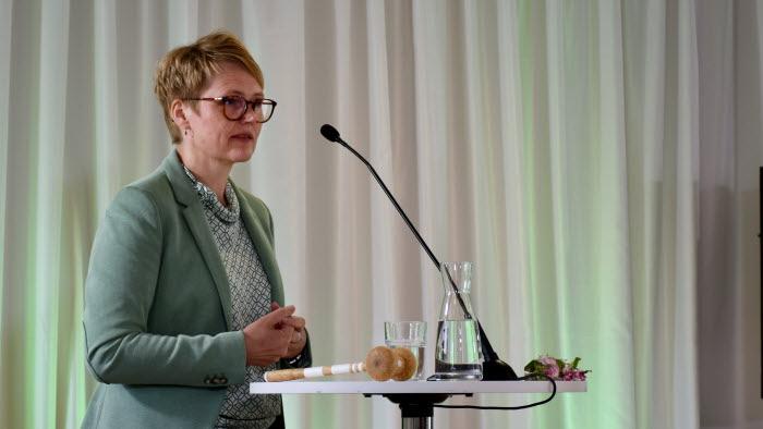 Anna Karin Hatt på riksförbundsstämman 2020
