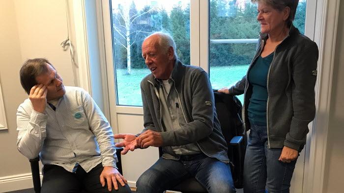 Tre pratar bland annat Olle Göransson LRF Hagfors Kommungrupp