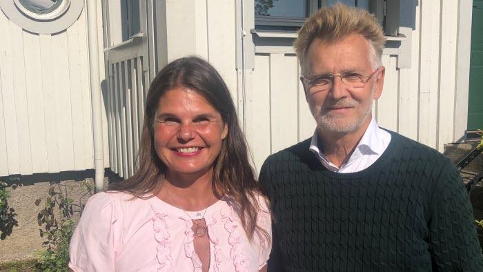 Sofia Karlsson och landshövding Anders Danielsson