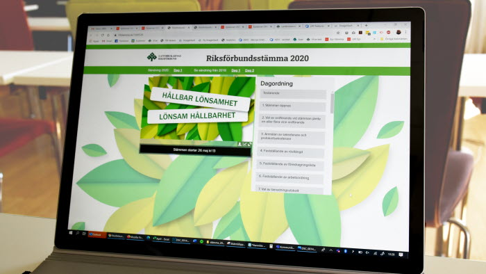 Webbsändning riksförbundsstämma 2020