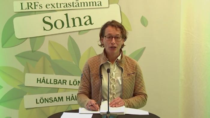Katarina Eningsjö Mälardalen digifysisk riksstämma 2020