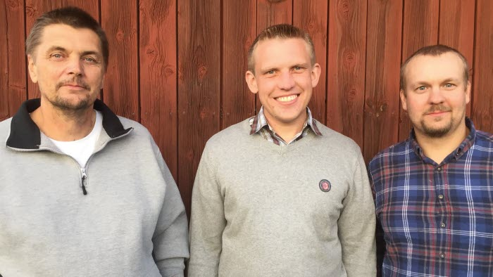 Frv: Niclas Aspegren, Magnus Johansson, Christian Carlsson