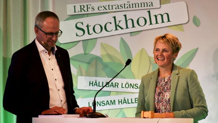 Palle Borgström och Annakarin Hatt inleder exrastämman 2020