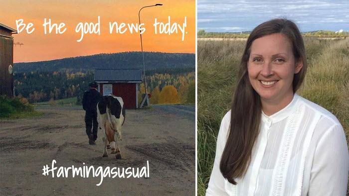 Cassandra Telldahl Bjelkelöv i LRF Ungdomen ligger bakom instakontot farmingasusual