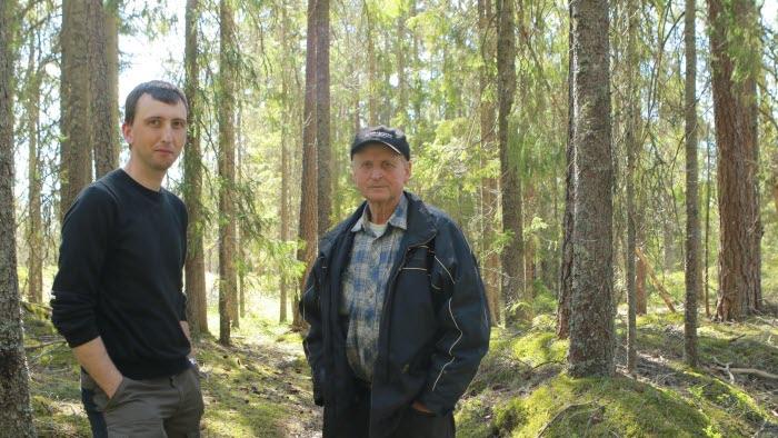 Christian och Olov Fredriksson, Östervallskog