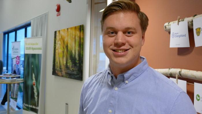 Martin Holmberg, LRFs ungdomsordförande Södermanland