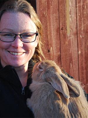 Sveriges kaninproducenter är nya medlemmar i LRF. Malin Sundmark, ordförande
