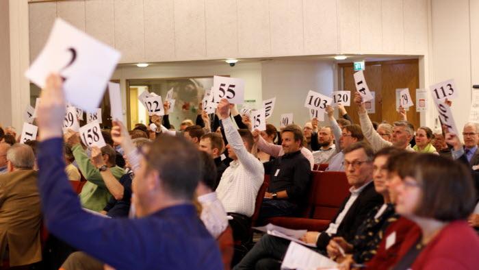Votering på LRF Mälardalens stämma 2018