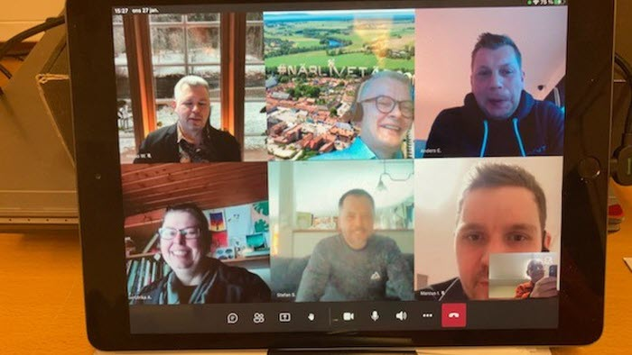 Laholm träffar kommunledningen digitalt