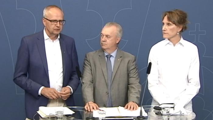 Pressträff med Palle Borgström, Sven-Erik Bucht och Christina Nordin, Jordbruksverket med anledning av torkan.