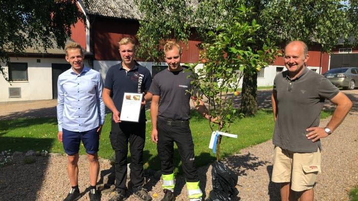 Martin Gotting, , Mikael o Staffan Danelius och Anders Rydsmo, kommungruppen Vårgårda